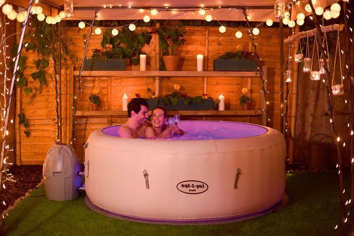 Jacuzzi de exterior spa hinchable hidromasaje para Jacuzzi exterior para dos personas