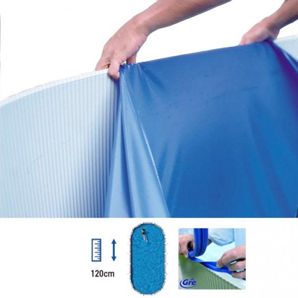 Liner piscinas gre 610x375x120 cm ovaladas mejor precio for Liner para piscinas gre