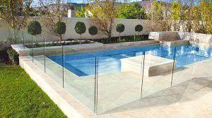 valla de cristal piscina