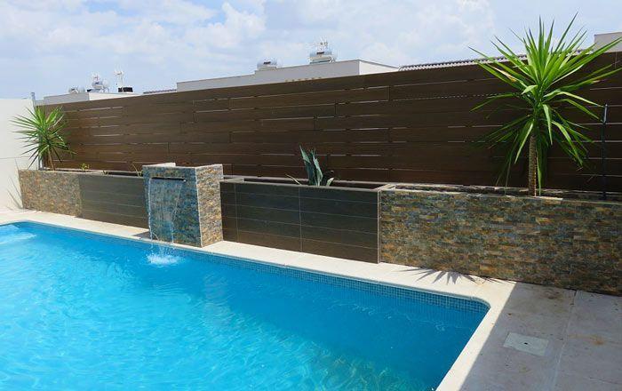 vallas para piscinas de madera sintetica
