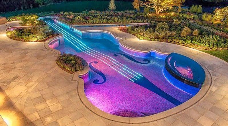 piscina violin led