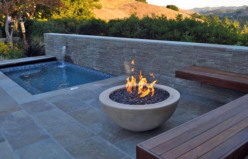 brasero exterior jardin terraza piscina