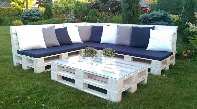 sofa de palet para jardin o patio