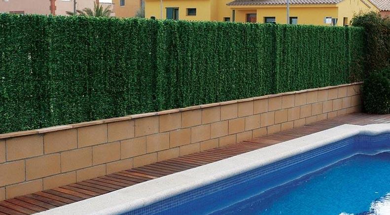 malla de hojas para la piscina