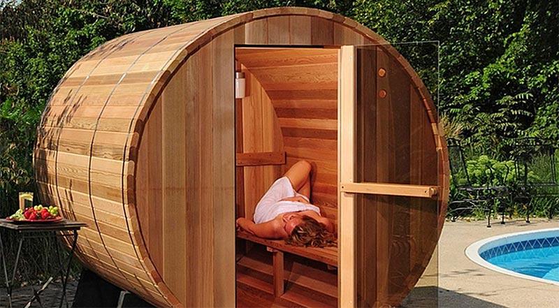 sauna para jardin
