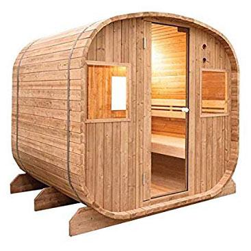 sauna exterior casa